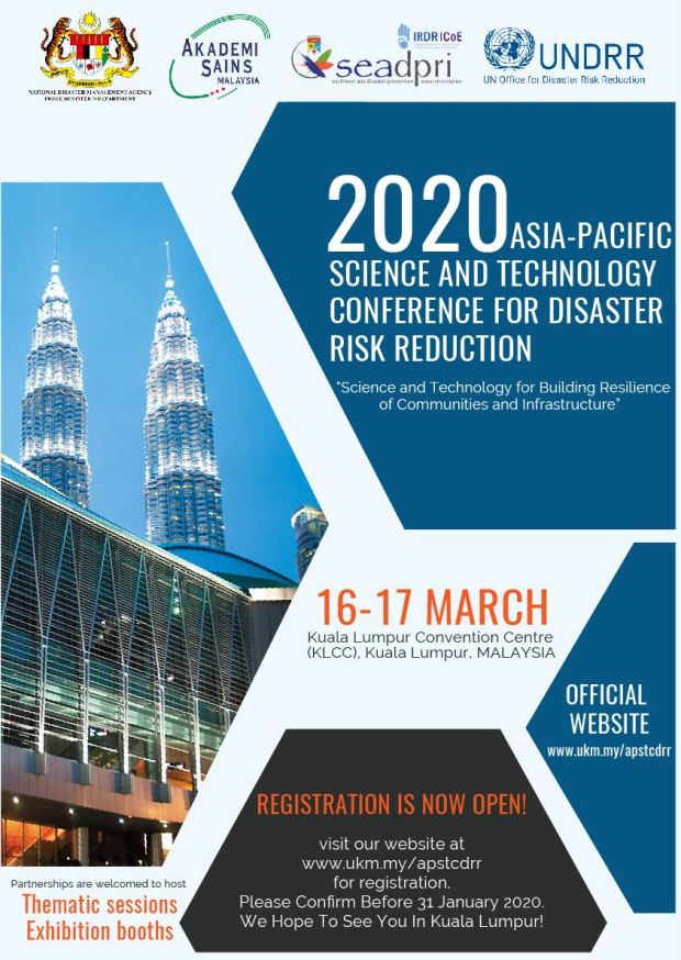 2020 Asia Pacific Science and Technology Conference on Disaster Risk